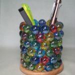 ビー玉でペン立てを作る:夏休み工作