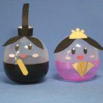 ガチャガチャのカプセルでひな人形を作る:ひな祭り工作